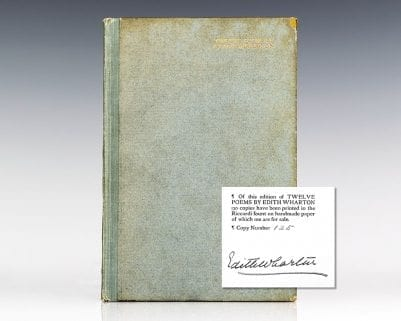 Twelve Poems by Edith Wharton.