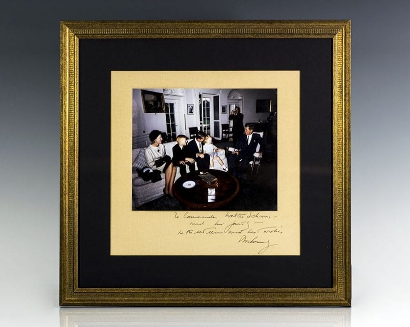 John F. Kennedy Signed Photograph to Astronaut Wally Schirra.