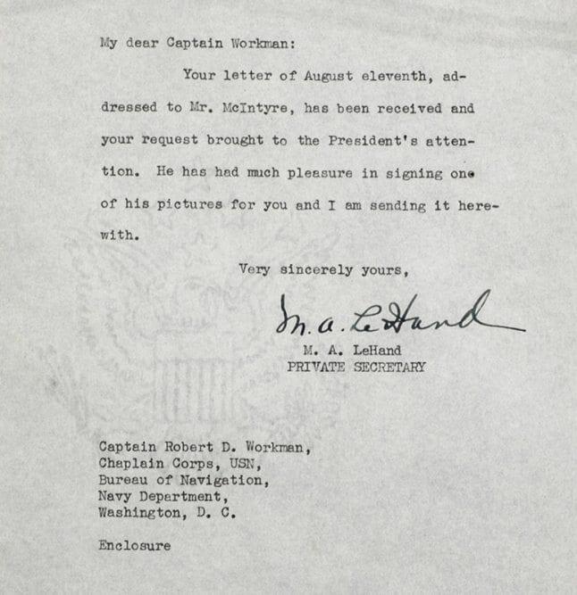 Franklin D. Roosevelt Signed Engraving.