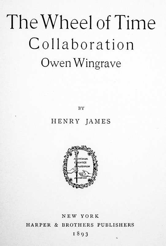 The Wheel of Time, Collaboration, and Owen Wingrave.