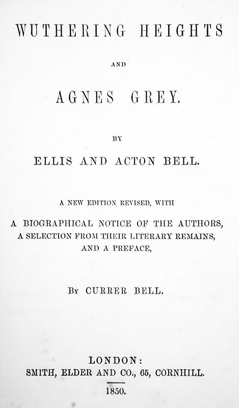 Wuthering Heights and Agnes Grey.