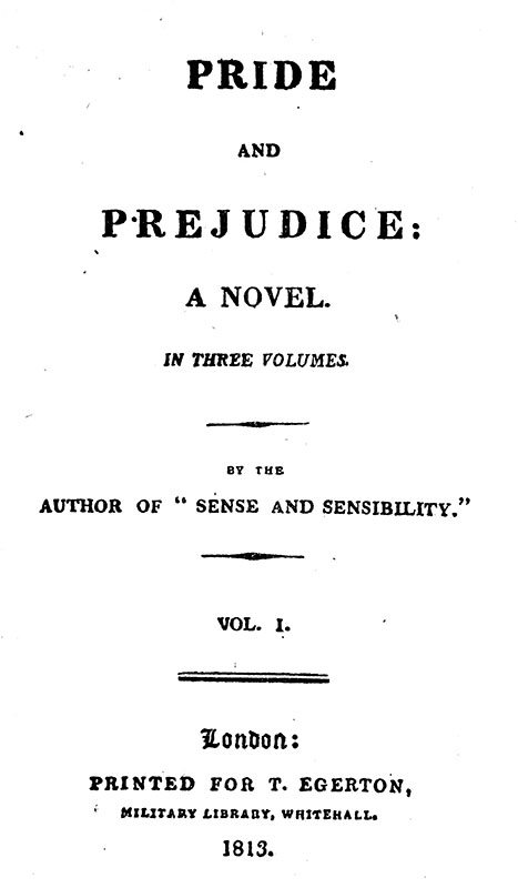 Pride and Prejudice.