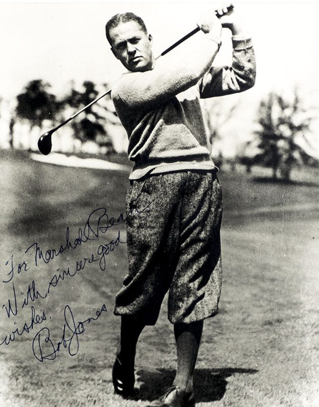 Bobby Jones Signed Photograph.