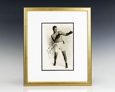 Jack Dempsey Signed Photograph.
