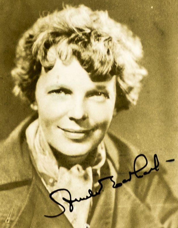 Amelia Earhart Photograph Signed.