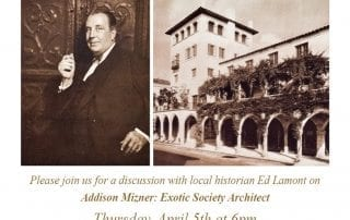 Join Us For an Evening with Ed Lamont discussing Addison Mizner: Exotic Society Architect