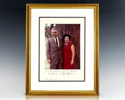 Signed Family Photograph of Lyndon B. Johnson.