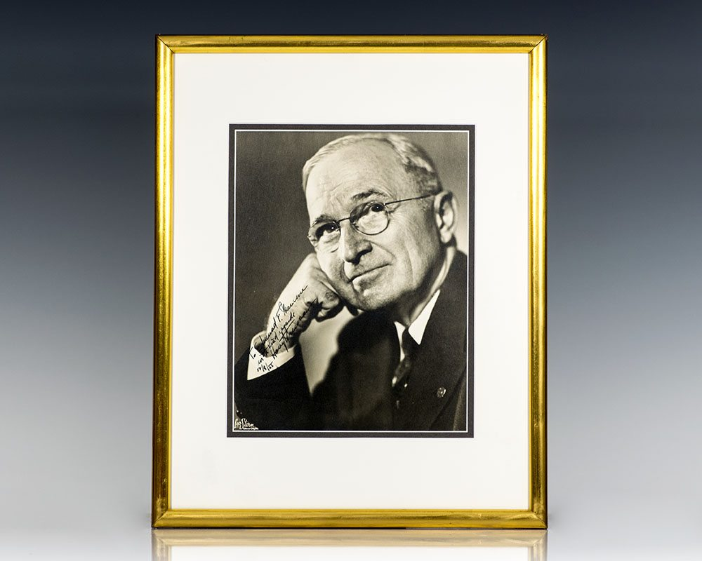 Harry Truman Signed Photograph.