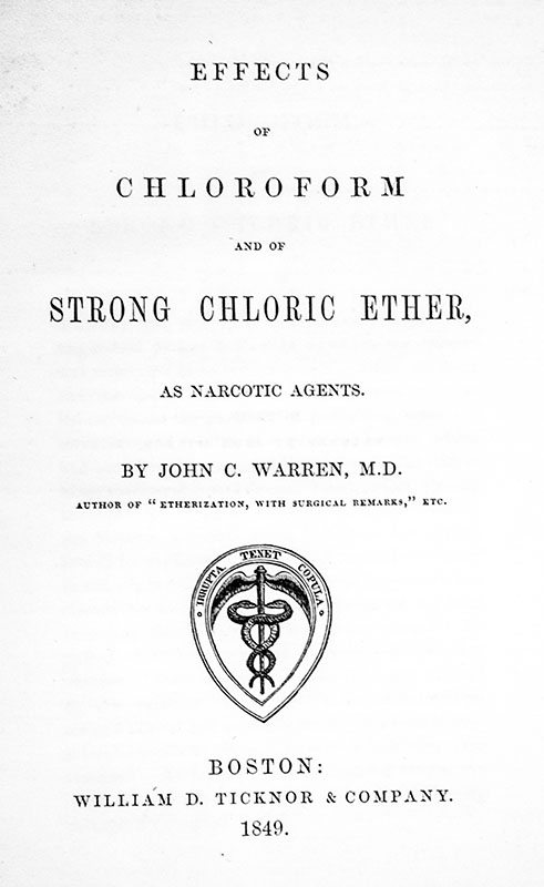 Effects of Chloroform and of Strong Chloric Ether, As Narcotic Agents.
