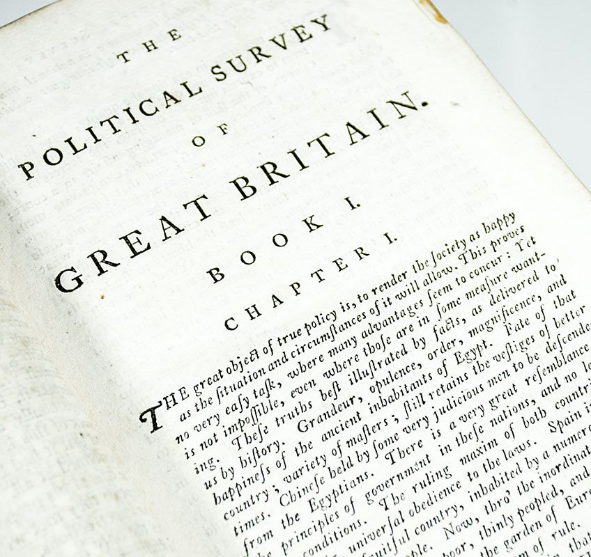 A Political Survey of Britain: Being a Series of Reflections on the Situation, Lands, Inhabitants, Revenues, Colonies, and Commerce of This Island.