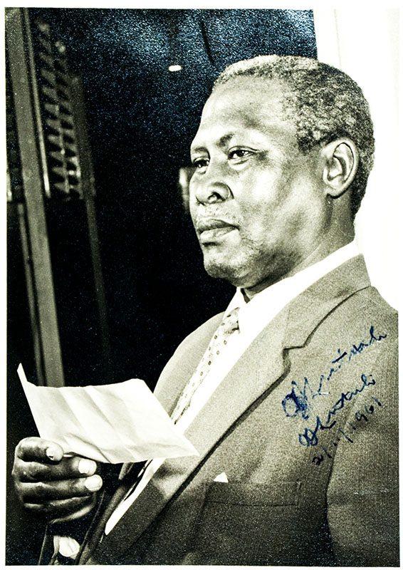 Albert Lutuli Signed Photograph.