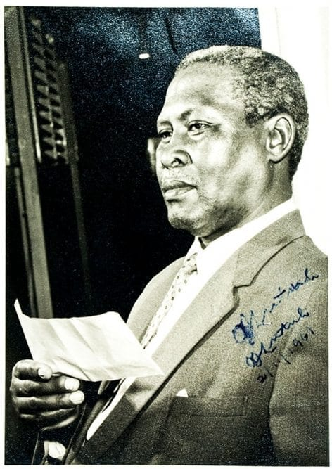 Albert Lutuli Signed Photograph.