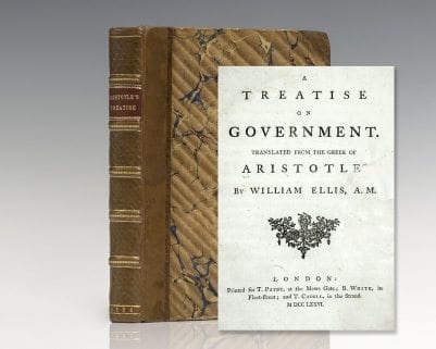 A Treatise on Government. Translated From The Greek of Aristotle.