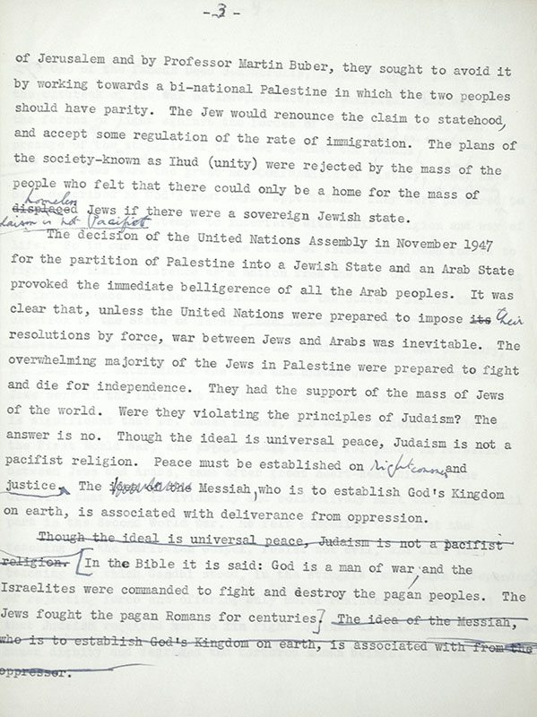 The Jews and International Relations: The Pursuit of Peace.