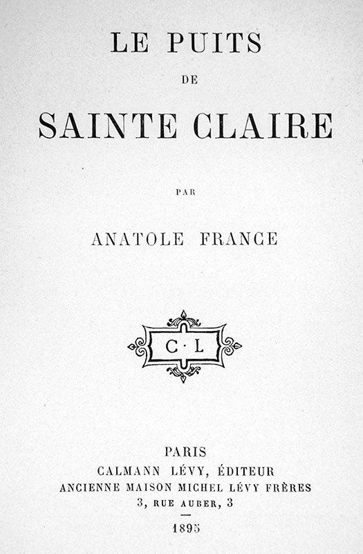 Le Puits de Sainte Claire.