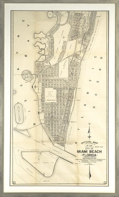 Miami Beach Official Map, Adopted November 3, 1920.