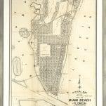 Miami Beach Official Map, Adopted November 3, 1920.