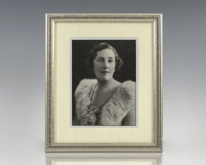 Agatha Christie Signed Photograph.