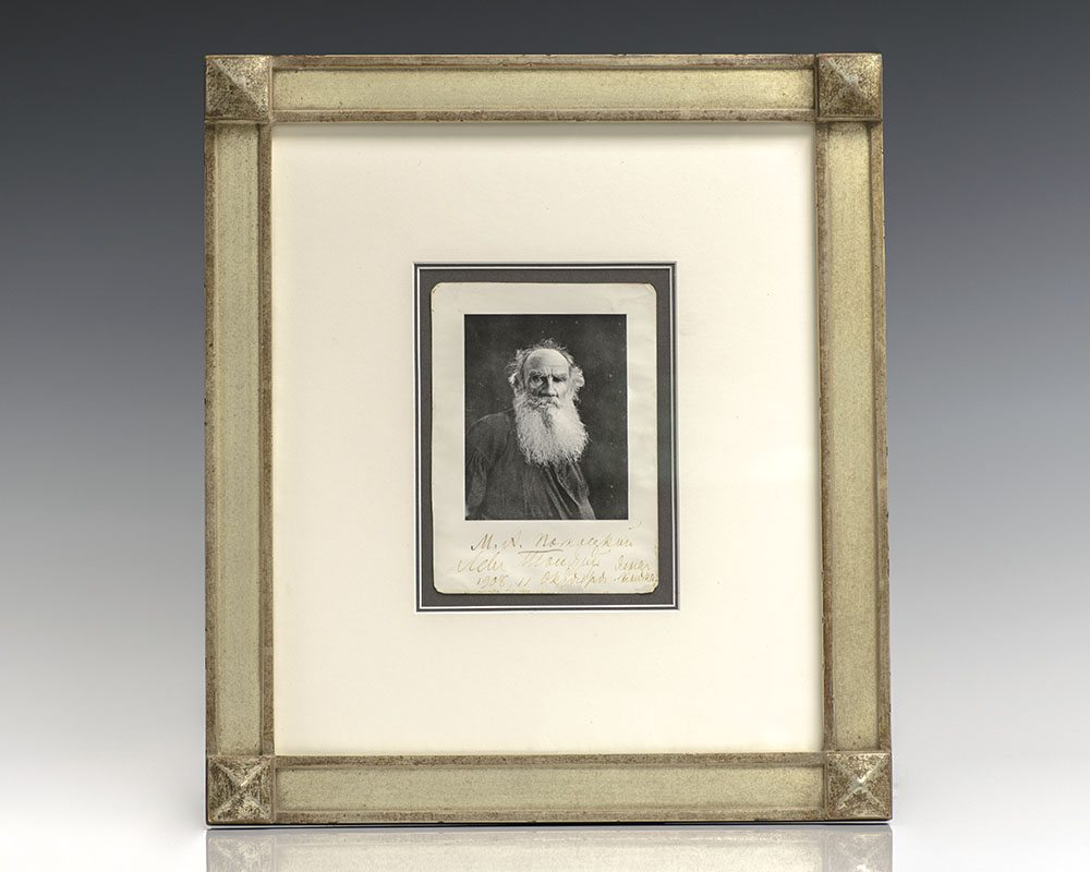 Leo Tolstoy Signed Photograph.