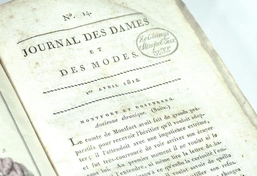 Journal Des Dames et Des Modes (Journal of Ladies of Fashion).