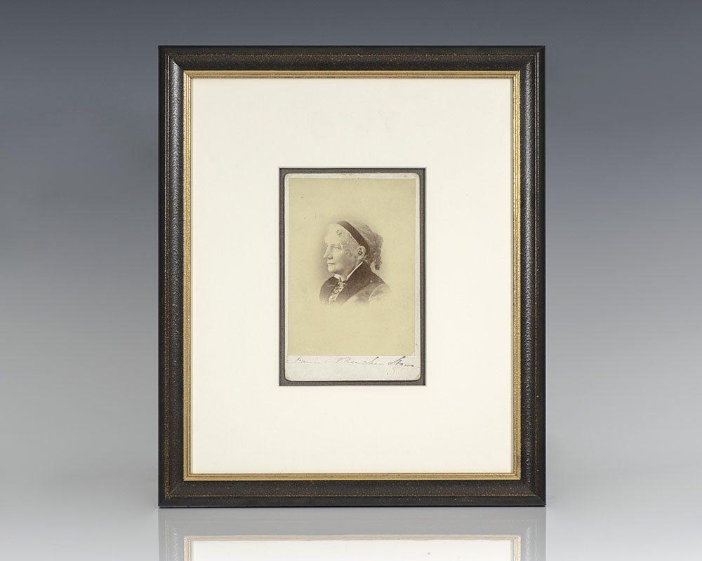 Harriet Beecher Stowe Signed Photograph.