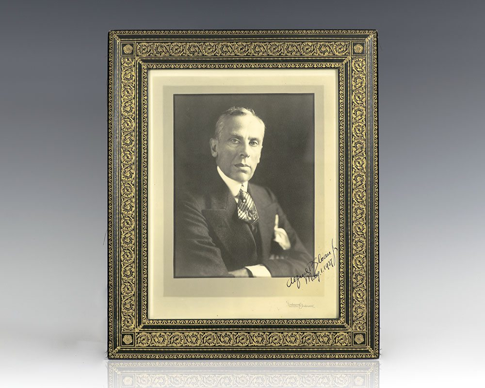 Alfred P. Sloan Signed Photograph.