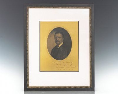 Theodore Roosevelt Signed Photograph Portrait.