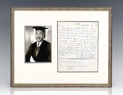 Martin Luther King, Jr. Hand-Written Autograph Letter Signed.