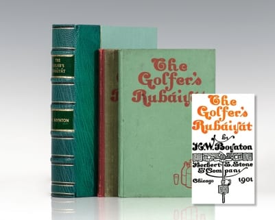 Two Editions of the Golfer's Rubaiyat.