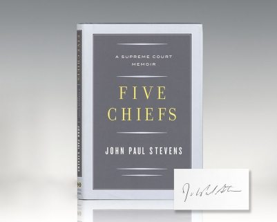 Five Chiefs: A Supreme Court Memoir.