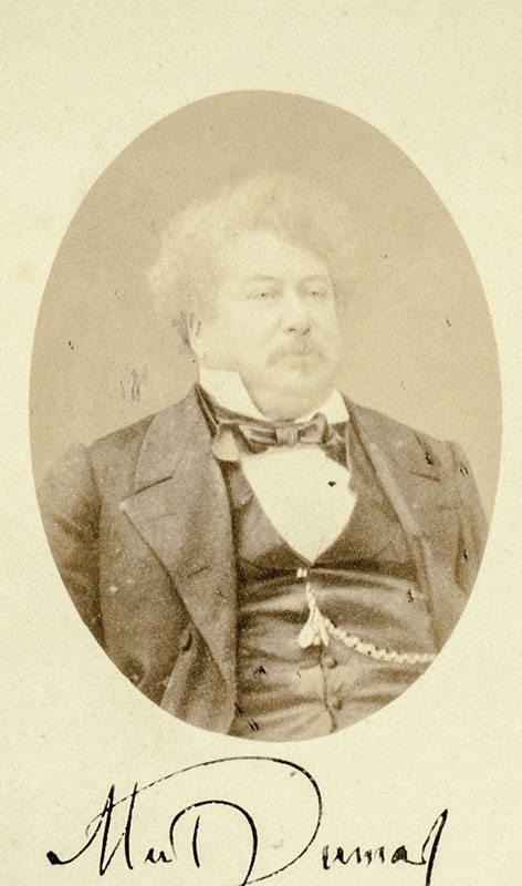 Alexander Dumas Original Carte-de-Visite Signed.