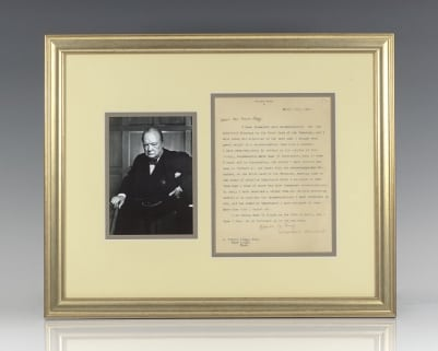 Winston S. Churchill Autograph Letter Signed.