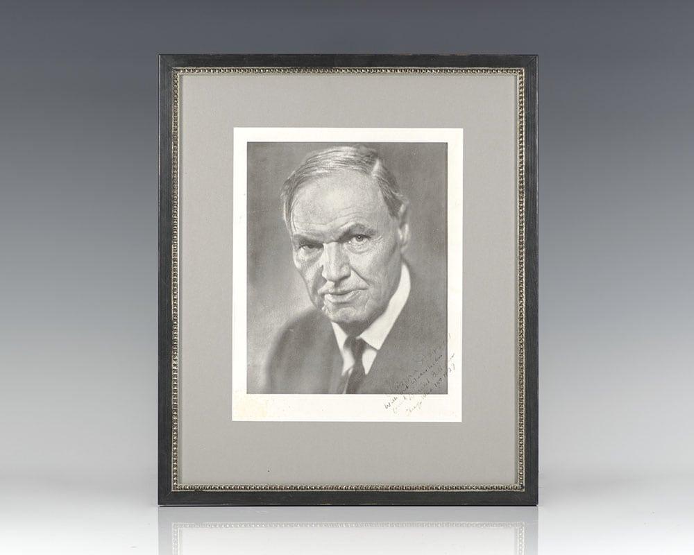 Clarence Darrow Signed Photograph.