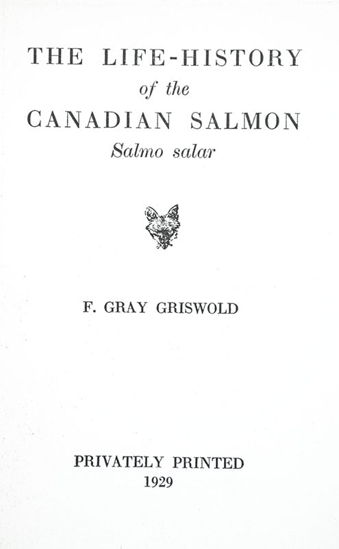 The Life History of The Canadian Salmon: Salmo Salar.