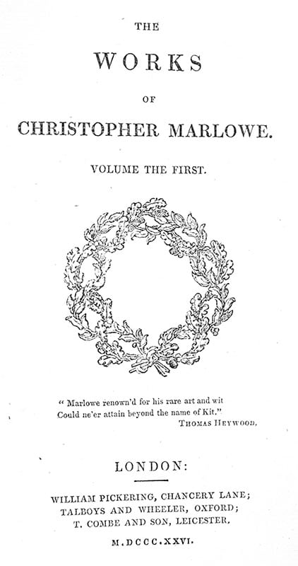 The Works of Christopher Marlowe.