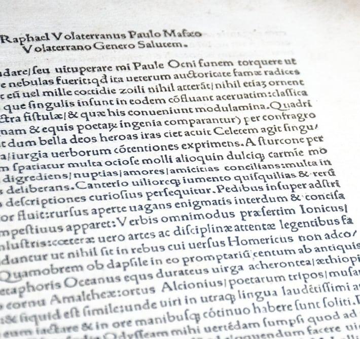 Odissea Per Raphaelem Volaterranum in Latinum Conversa (The Odyssey of Homer translated by Raphael of Volterra in Latin).
