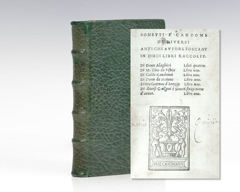 Sonetti e' Canzoni di diversi antichi autori Toscani in dieci libri raccolte.