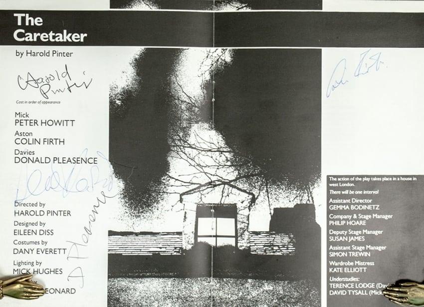 Original The Caretaker Playbill.