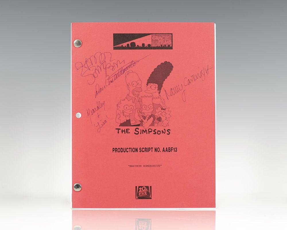 Original Simpsons Production Script.