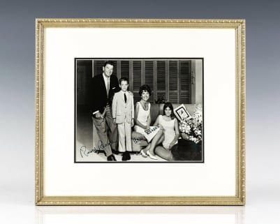 Signed Family Photograph of Ronald and Nancy Reagan.