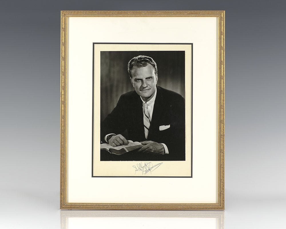 Billy Graham Signed Photograph.