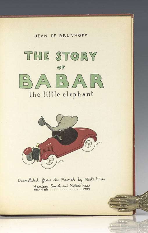 The Story of Babar the Little Elephant.
