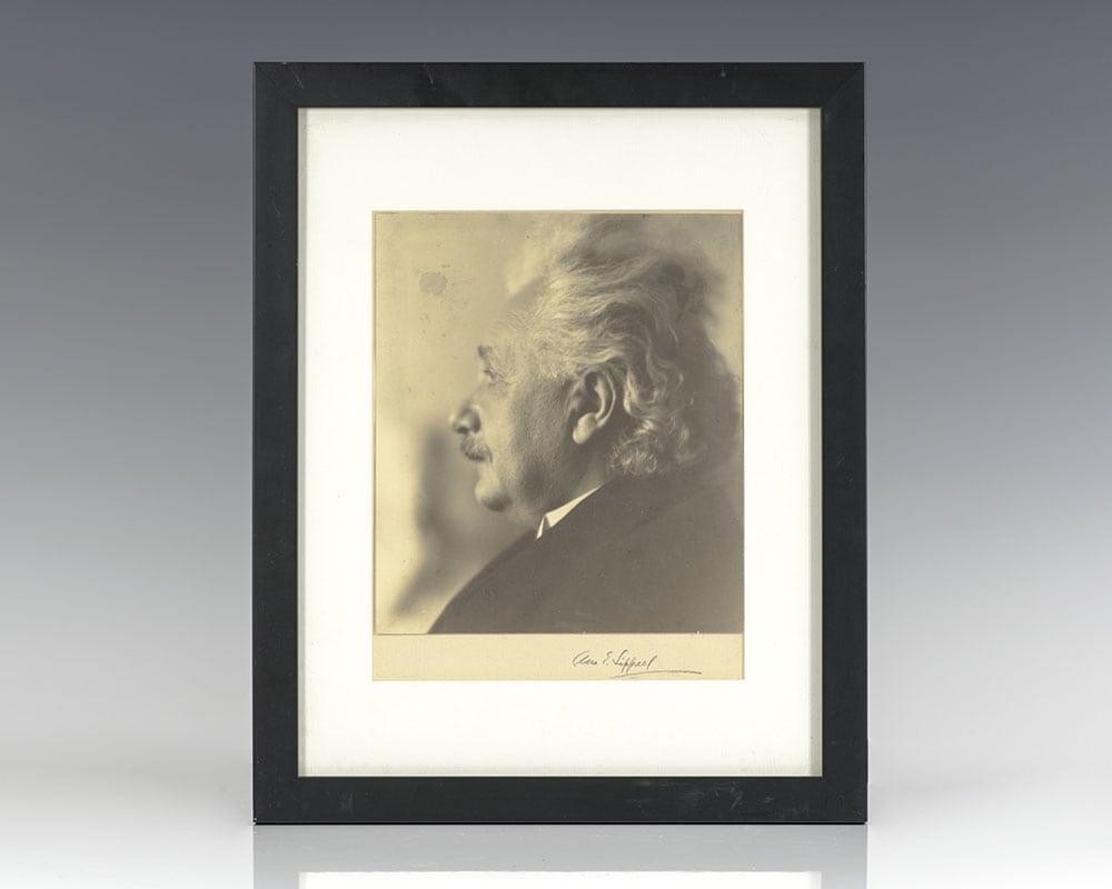 Albert Einstein Signed Clara Estelle Sipprell Photograph.