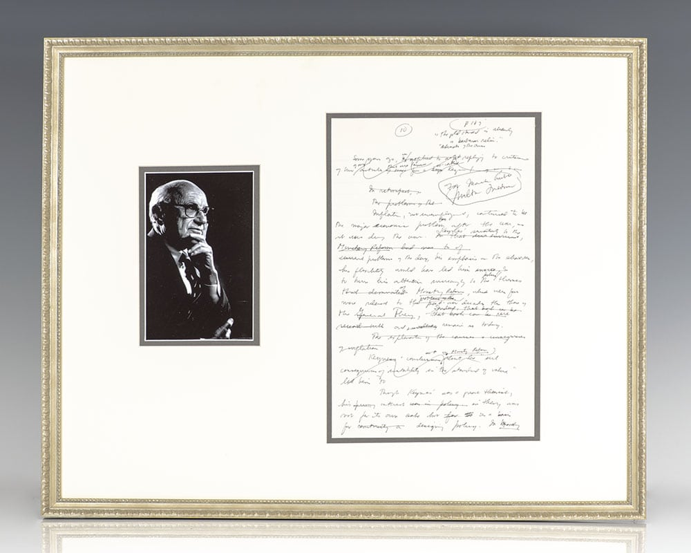 Milton Friedman Manuscript on J.M. Keynes' The General Theory.