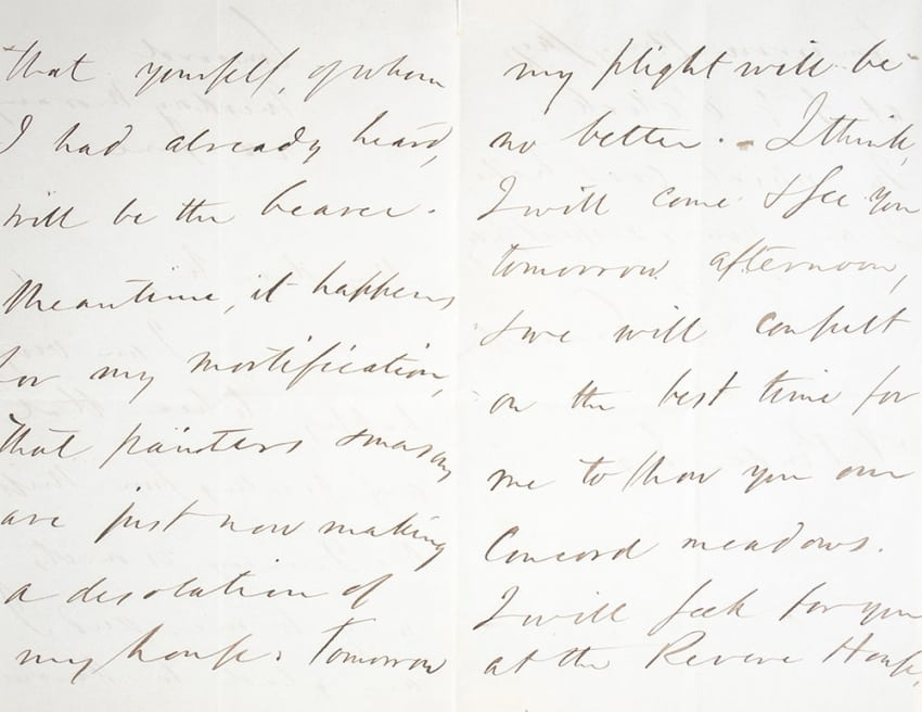 Ralph Waldo Emerson Autographed Letter Signed.