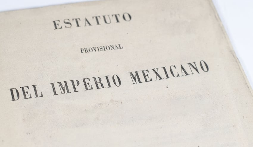 Estatuto Provisional del Imperio Mexicano.