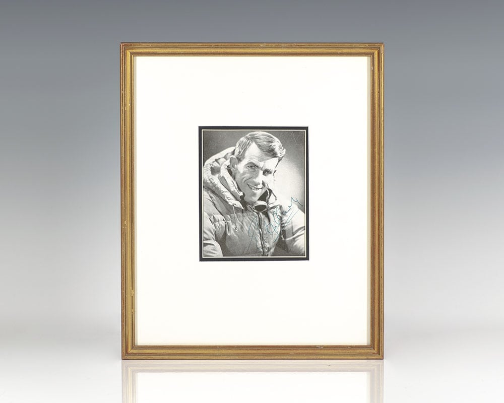 Edmund Hillary Signed Photograph.