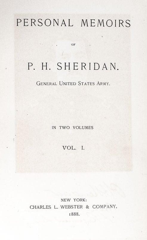 Personal Memoirs of P.H. Sheridan.