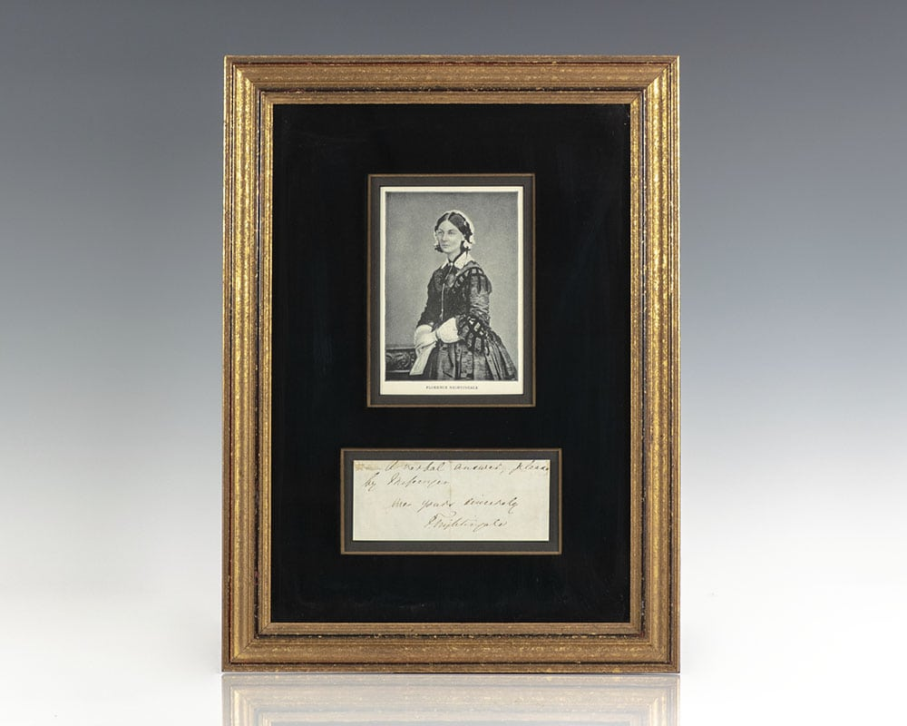 Florence Nightingale Autograph Note Signed.