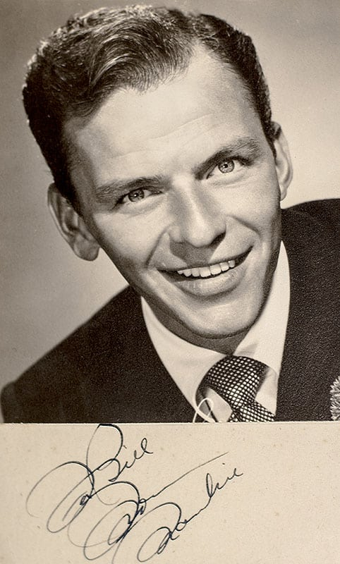 Frank Sinatra Signed Photographic Postcard.